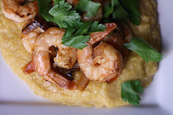 True Grits with Southwestern Shrimp | > Fish & Seafood | Pinterest