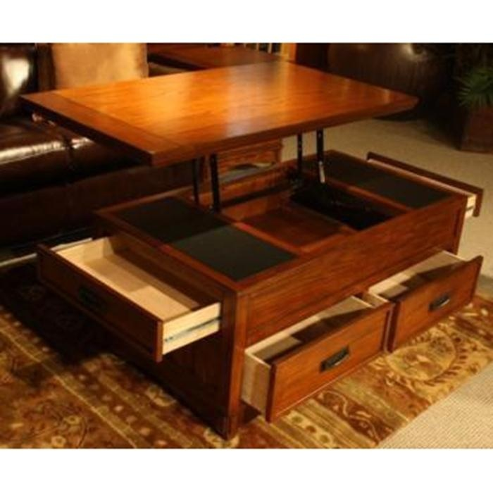 Furniture Mart Ashley Lift Top Coffee Table With Oak Stain