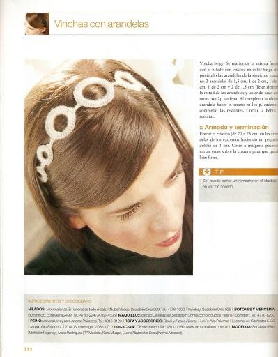 iKnitts: Patrones para Tejer a Crochet / Vincha para el pelo con arandelas