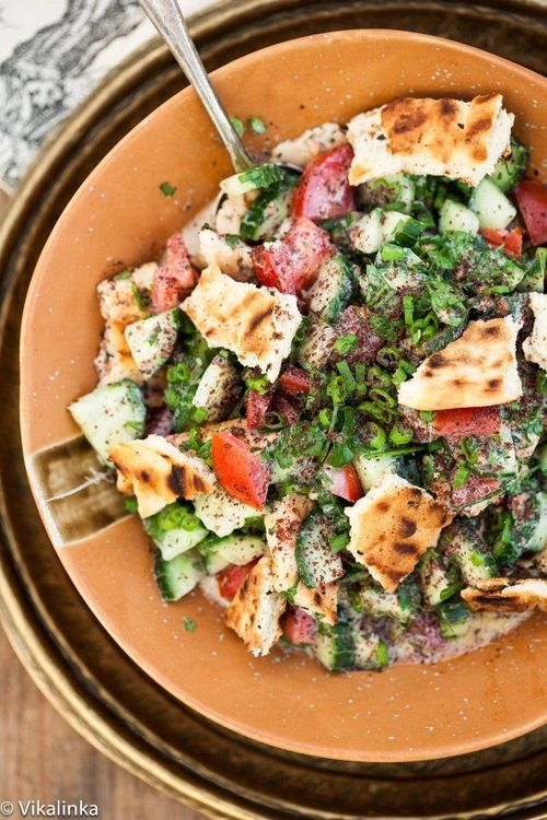 Middle Eastern Fattoush Salad | Healthy receipe exchange and tips | P ...
