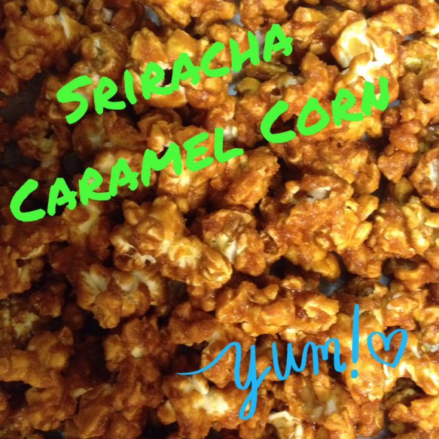 Spicy sweet caramel popcorn!! | Party foods-Popcorn! | Pinterest