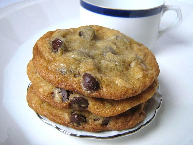 Chewy Chocolate Chip Coconut Cookies - with pudding in the mix