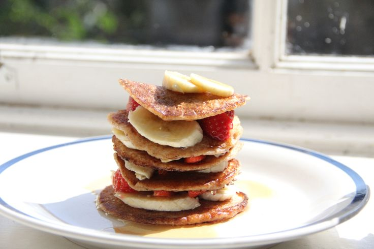 Fluffy Vegan Spelt Pancakes- the recipe is for baby pancakes so if you ...