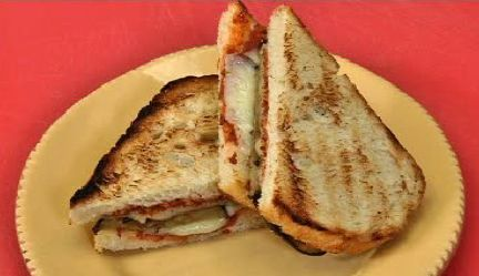 ... Sandwich with Provolone Cheese and Homemade Sundried Tomato Pesto