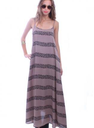 Leopard Print Maxi Dress on Striped Leopard Print Maxi Dress  Dress  Leopard Print Maxi Sun Dress