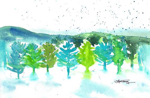 Make your own watercolor christmas cards billboards for Make your own christmas cards ideas