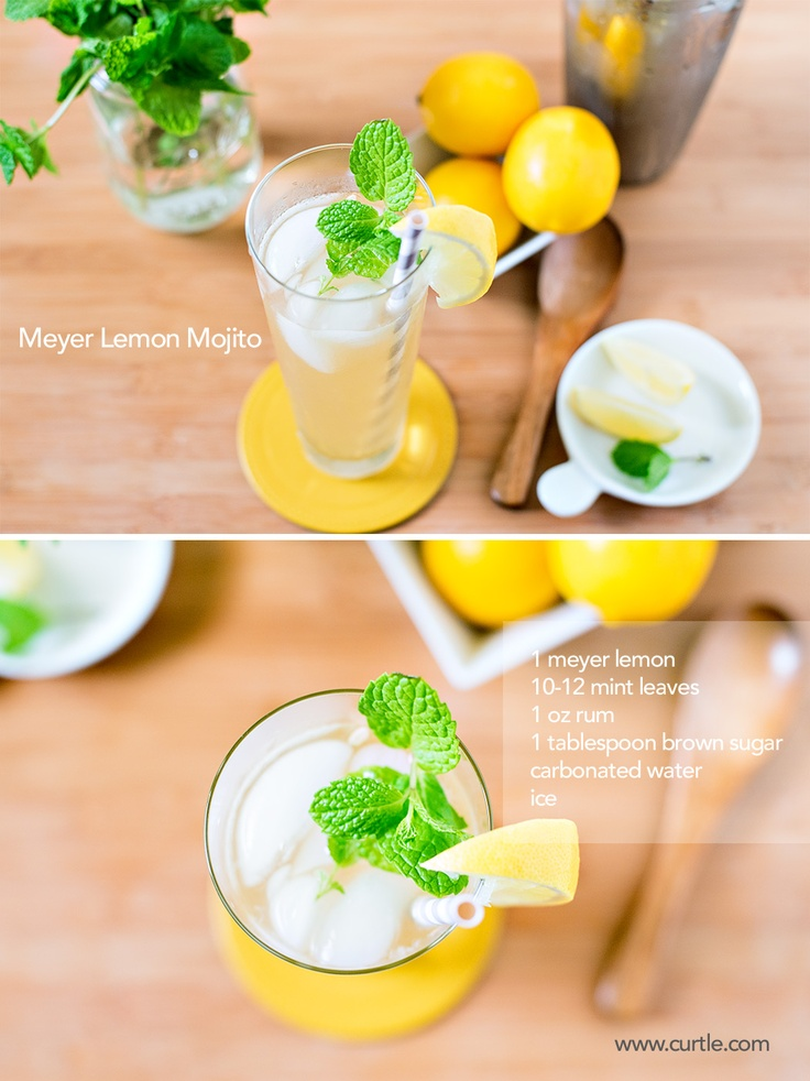 Meyer Lemon Mojito- YUM! | foodie | Pinterest