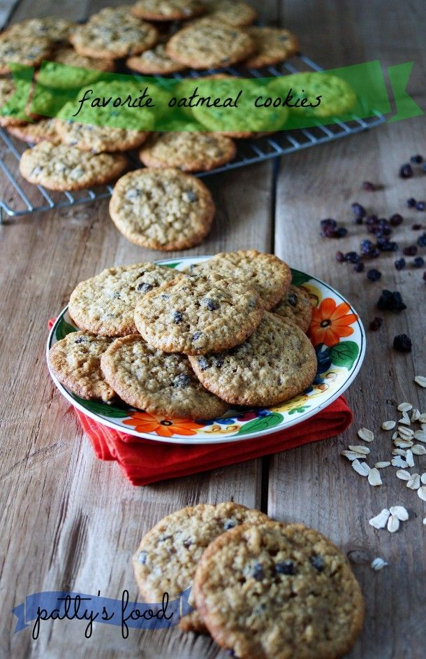 Oatmeal Currant Cookies / Patty's Food | Cookie Recipe Ideas | Pinter ...