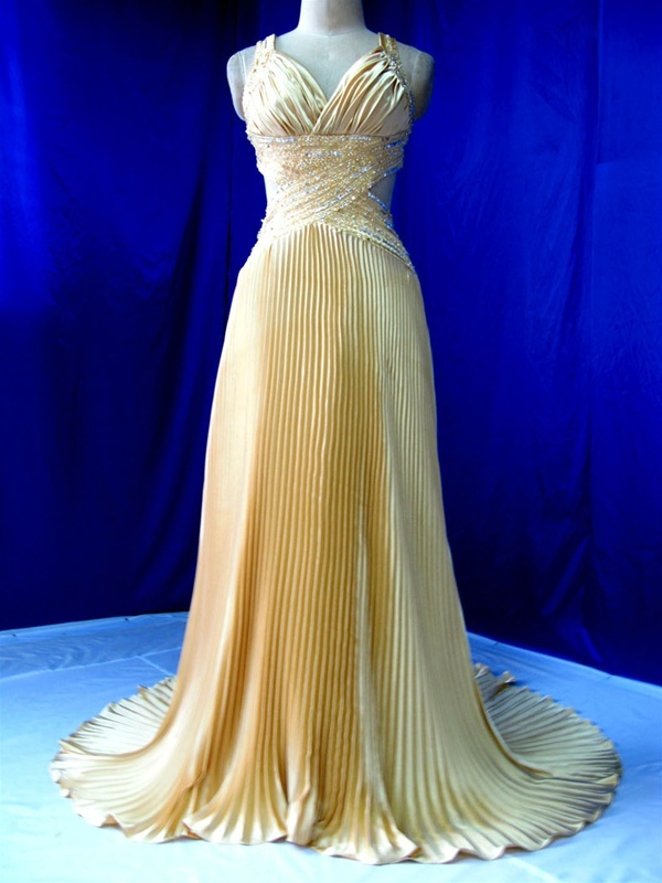 Yellow wedding dress id prefer it as mother of the bride dress