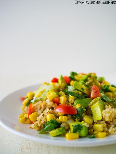 Quinoa salad with honey jalapeno lime dressing recipe cook snap