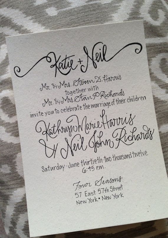 Calligraphy For Wedding Invitations can inspire you to create best invitation template