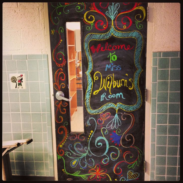 Classroom Chalkboard Decor : Classroom chalkboard door decor pinterest