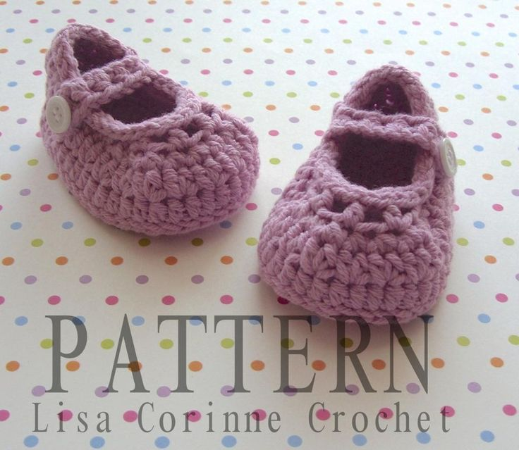 Contemporary Free Crochet Pattern For Baby Mary Jane Shoes