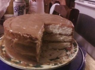 Grandma's Caramel Cake w/ caramel icing | Favorite Recipes | Pinterest