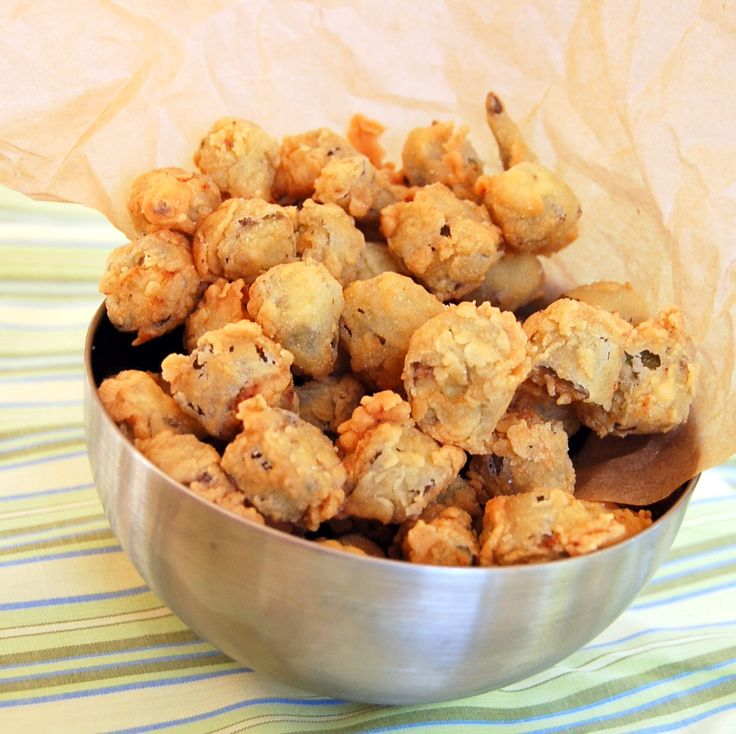 fried okra with a cute story about author's grandma