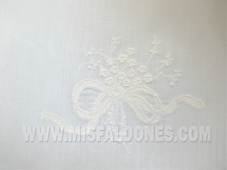 Detail - Christening dress (spanish name: Faldon, Faldellin)