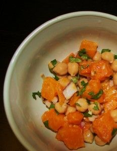 Warm Butternut Squash and Chickpea Salad - this calls for tahini..yep ...
