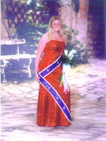 rebel flag prom dress