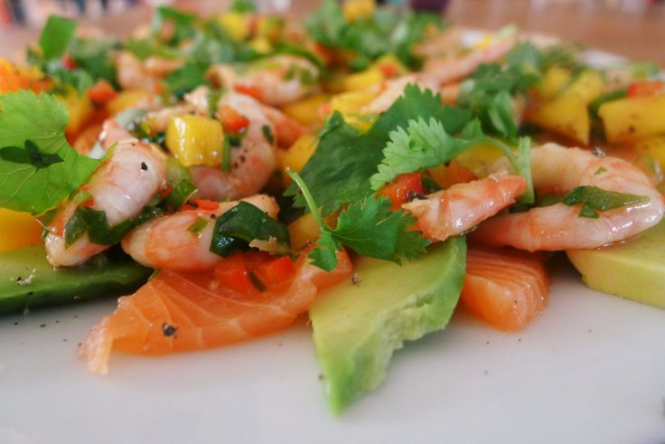 Sashimi med avocado og reker | Food | Pinterest