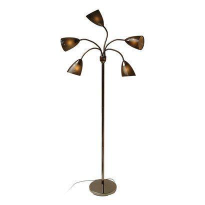 room essentials 5 head floor lamp black includes cfl bulb this. Black Bedroom Furniture Sets. Home Design Ideas