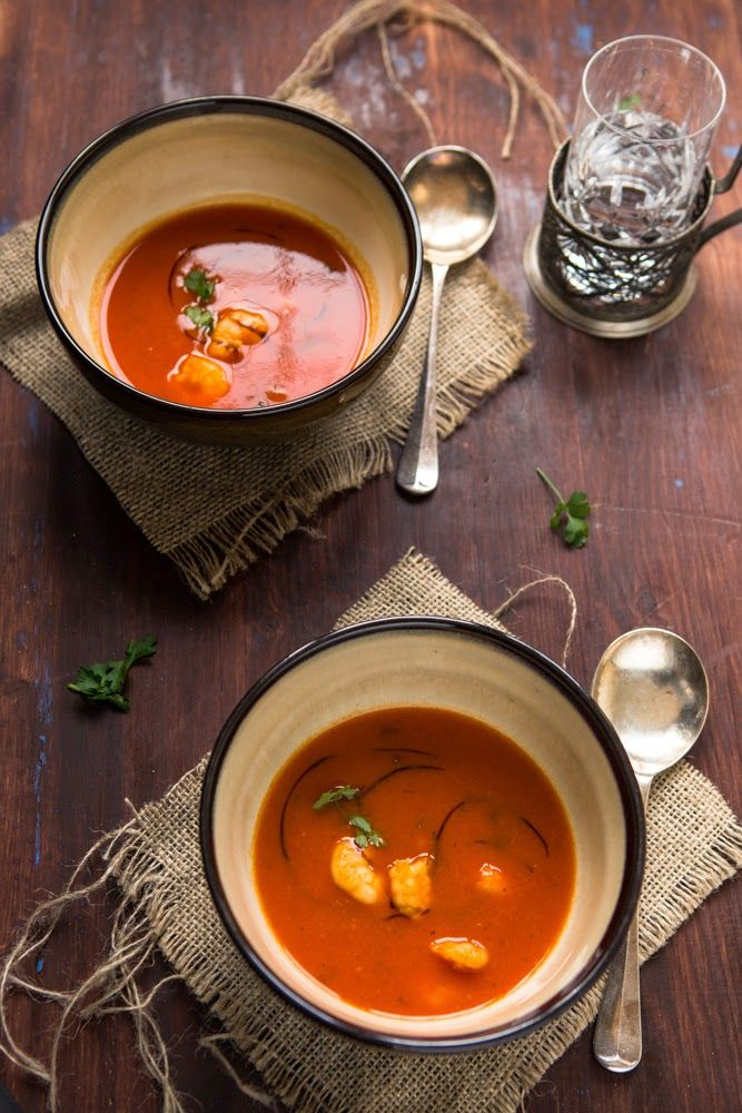 Roasted Red Pepper and Smoked Garlic Soup | Multiculti Kitchen