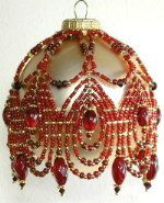 January Crystal Birthstone Ornament Pattern 2008 by Deb Moffett-Hall aka Patterns to Bead