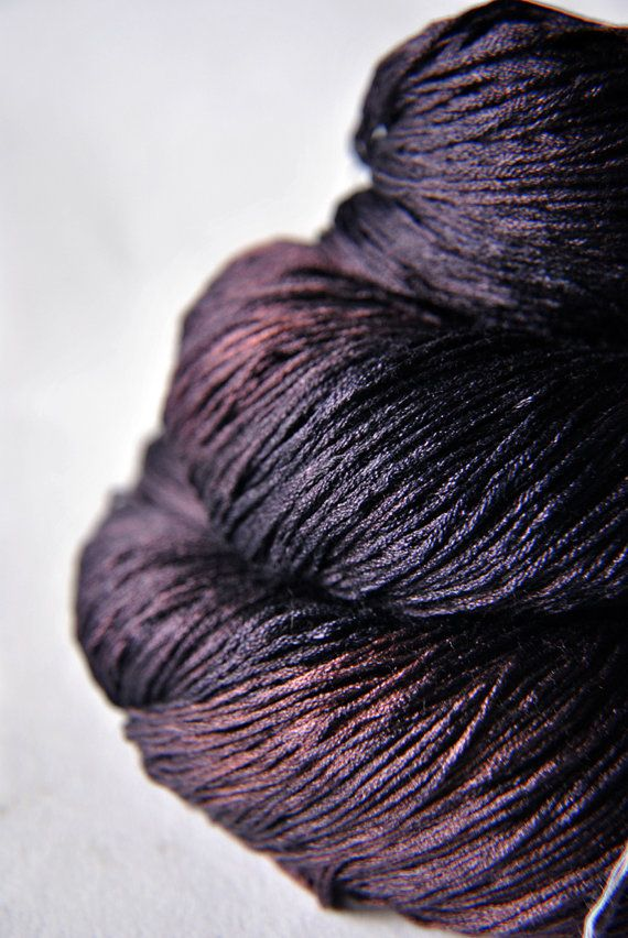 Lace Weight Yarn : Freshly Squeezed Grapes - Silk Yarn Lace weight