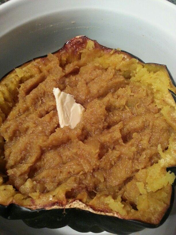 Twice Baked Acorn Squash #paleo #thanksgiving #cinnamon #coconutsugar