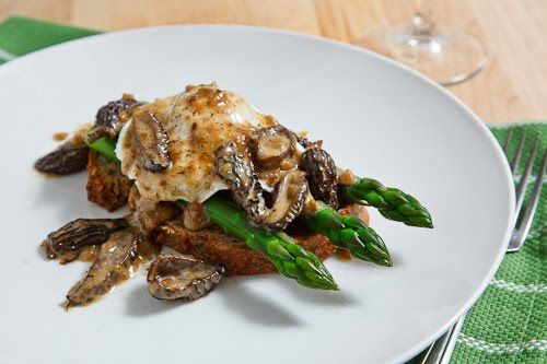 Seriously? Morel Mushroom and Asparagus Eggs Benedict - it has to be ...