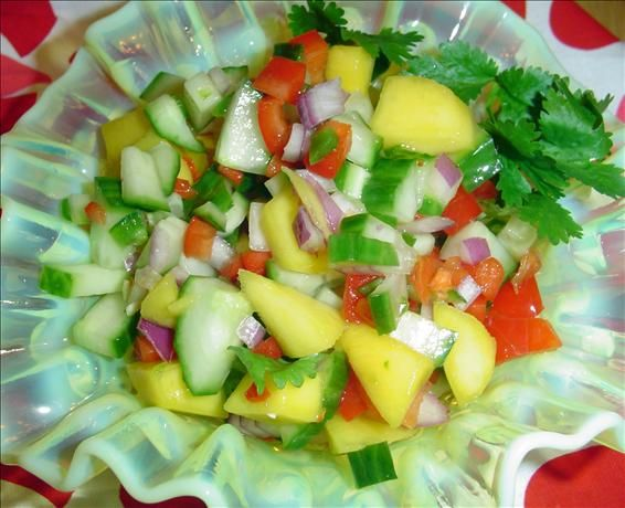 Kiwi, Mango, And Cucumber Salsa With Lime And Jalapeno Recipes ...