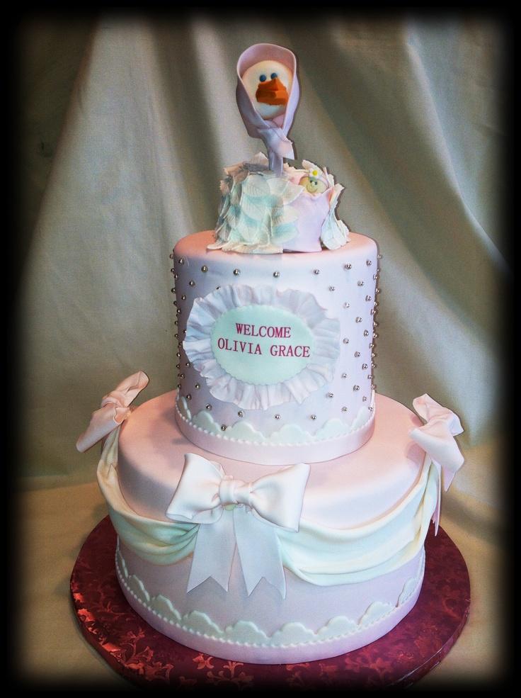 Baby Shower Cakes Stork ~ Stork themed baby shower cake pinterest