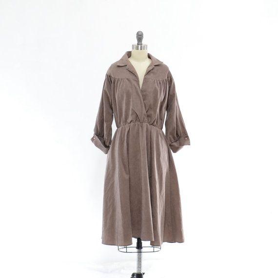 Vintage 70s Shirt Dress 1970s Shirtwaist Dress by 830Vintage, $24.00
