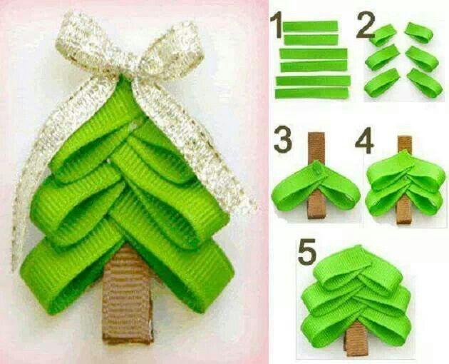 Ribbon christmas tree holidays pinterest