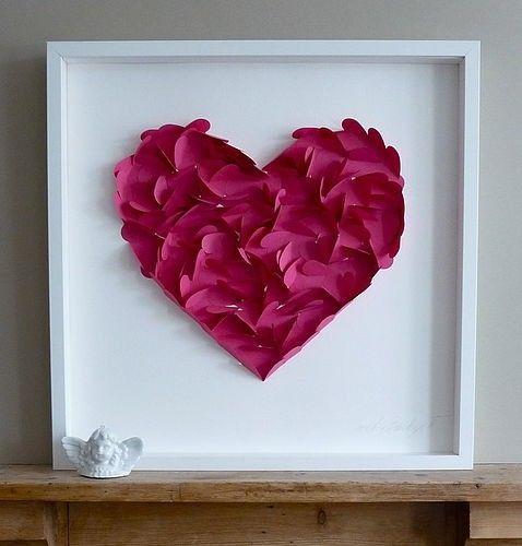 valentine day garland diy