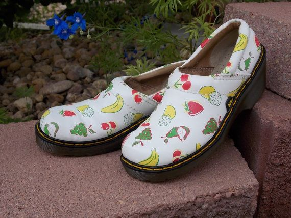 Dr Marten size 6 womens white wedge shoes with by RubesRelics, $49.50