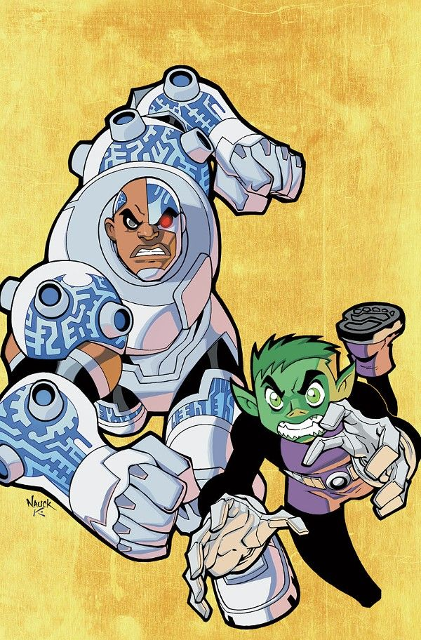 how to draw beast boy and cyborg