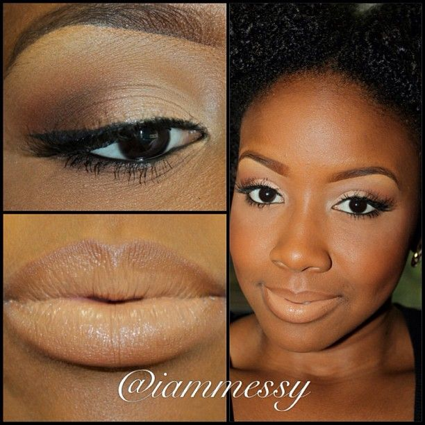 tutorial dark skin natural  brown  natural & flawless!!  for skin for Beautiful makeup  iammessy @Misty makeup