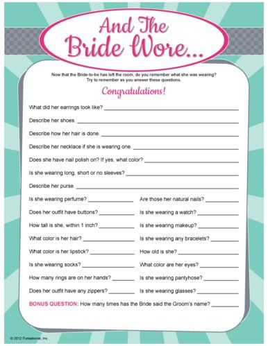 bachellorette party games | All Bridal Shower Party Games CHECK PRICES ...