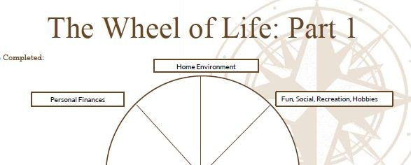The Balance Wheel worksheet. A little gift to help peeps work out what ...
