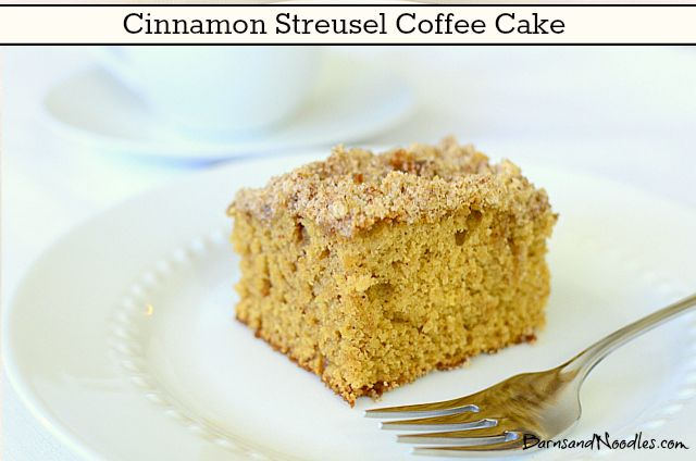 Cinnamon Streusel Coffee Cake | Holidays - Christmas | Pinterest
