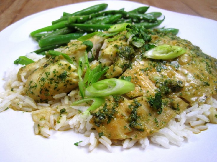 ginger & cilantro roasted tilapia | just the tip | Pinterest