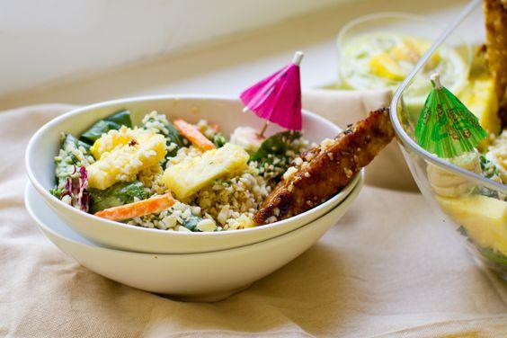 Aloha Salad with Tiki Tempeh. Dole Salad Circle Giveaway! - Healthy. Happy. Life.