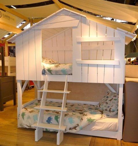 lit cabane enfant superpos lit en hauteur pinterest. Black Bedroom Furniture Sets. Home Design Ideas