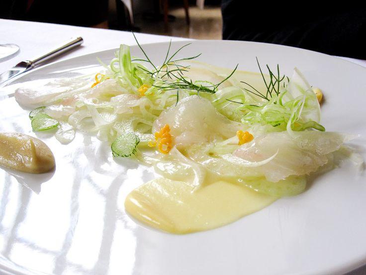 ... Madison Park Fluke marinated with fennel, meyer lemon, and horseradish