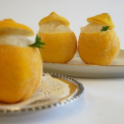 301. Lemon granita - Recipe | Kits Chow | Granitas | Pinterest