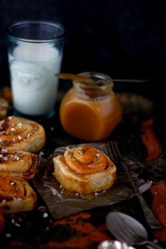 Salted Caramel Cinnamon Rolls | K.O Rasoi