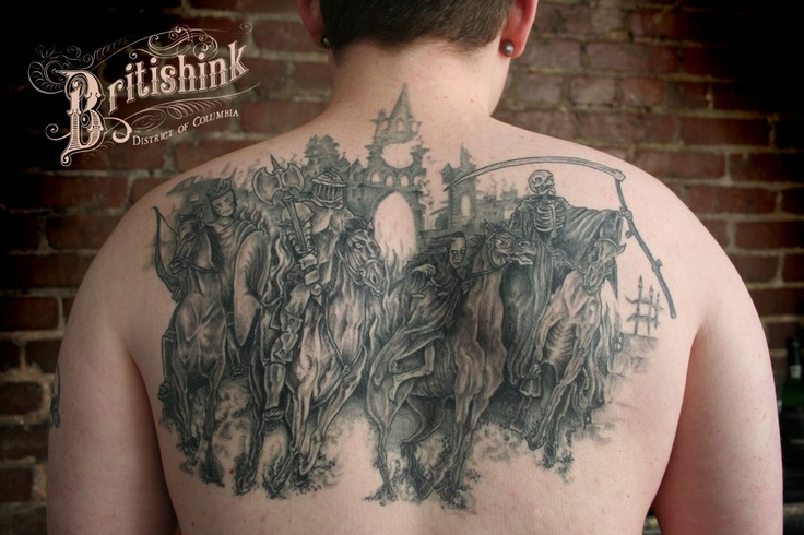 four horsemen tattoo by britishink d c tattoos piercings pinterest. Black Bedroom Furniture Sets. Home Design Ideas