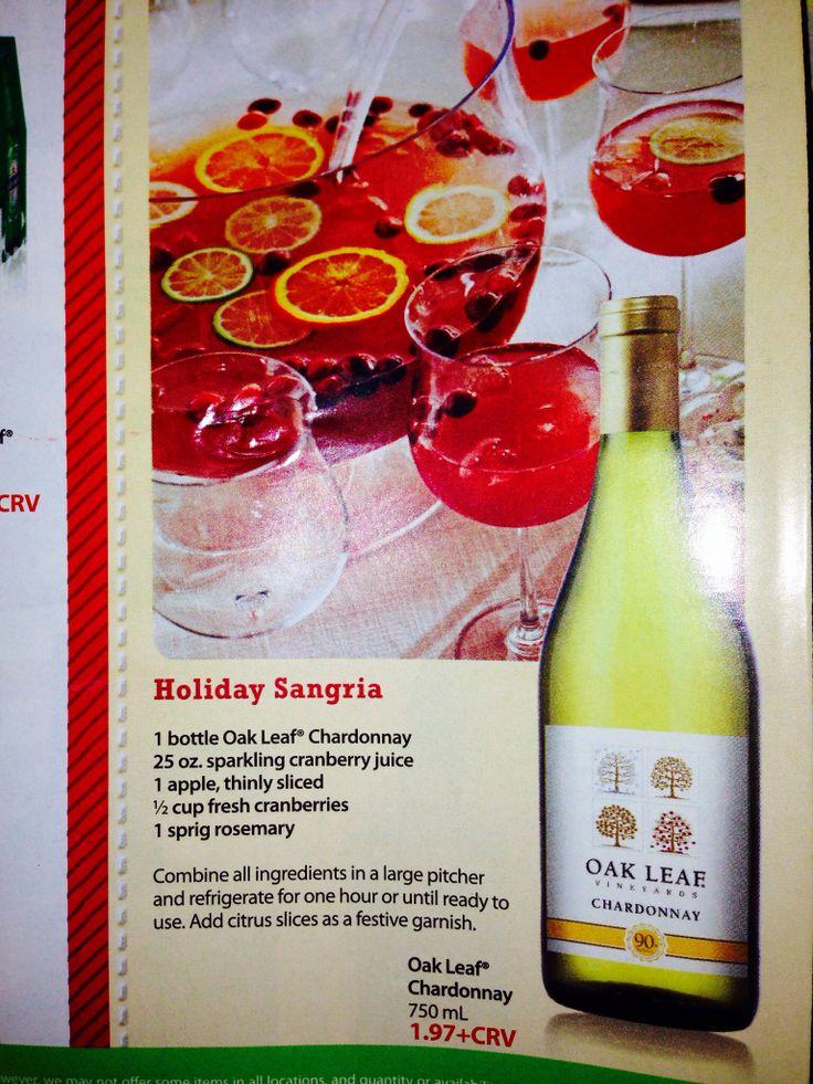 Holiday sangria | Seasonal Stuff | Pinterest