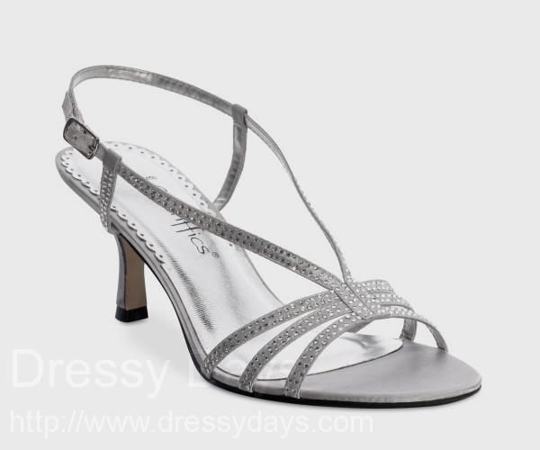 Treasure Women's Dress Shoes and Bridesmaid Shoes in Silver - Wide