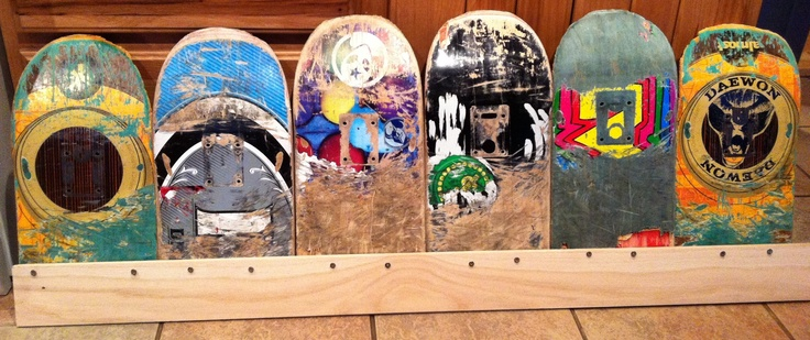 recycling skateboard into furniture bed headboard in